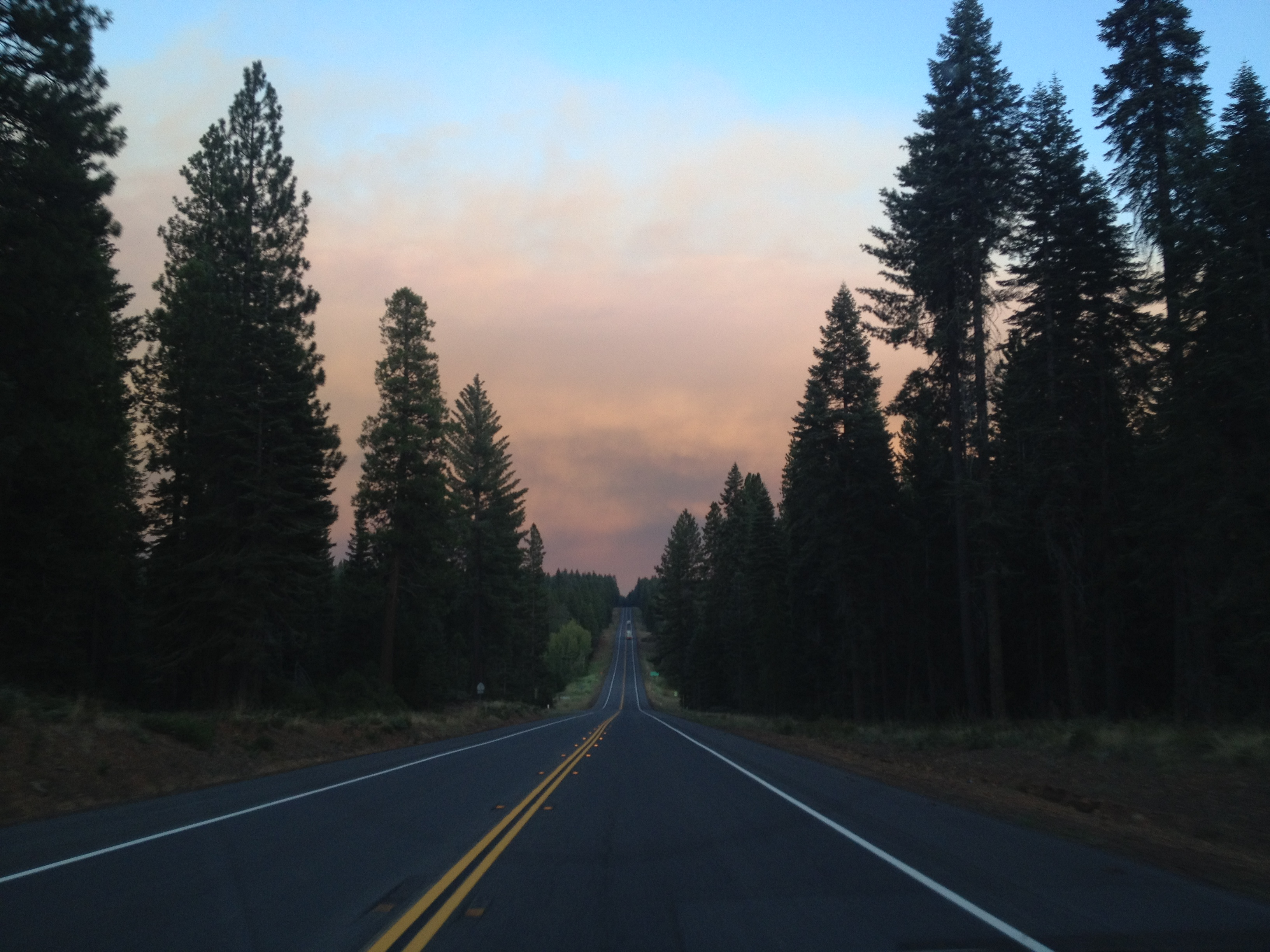 California forest fire smoke