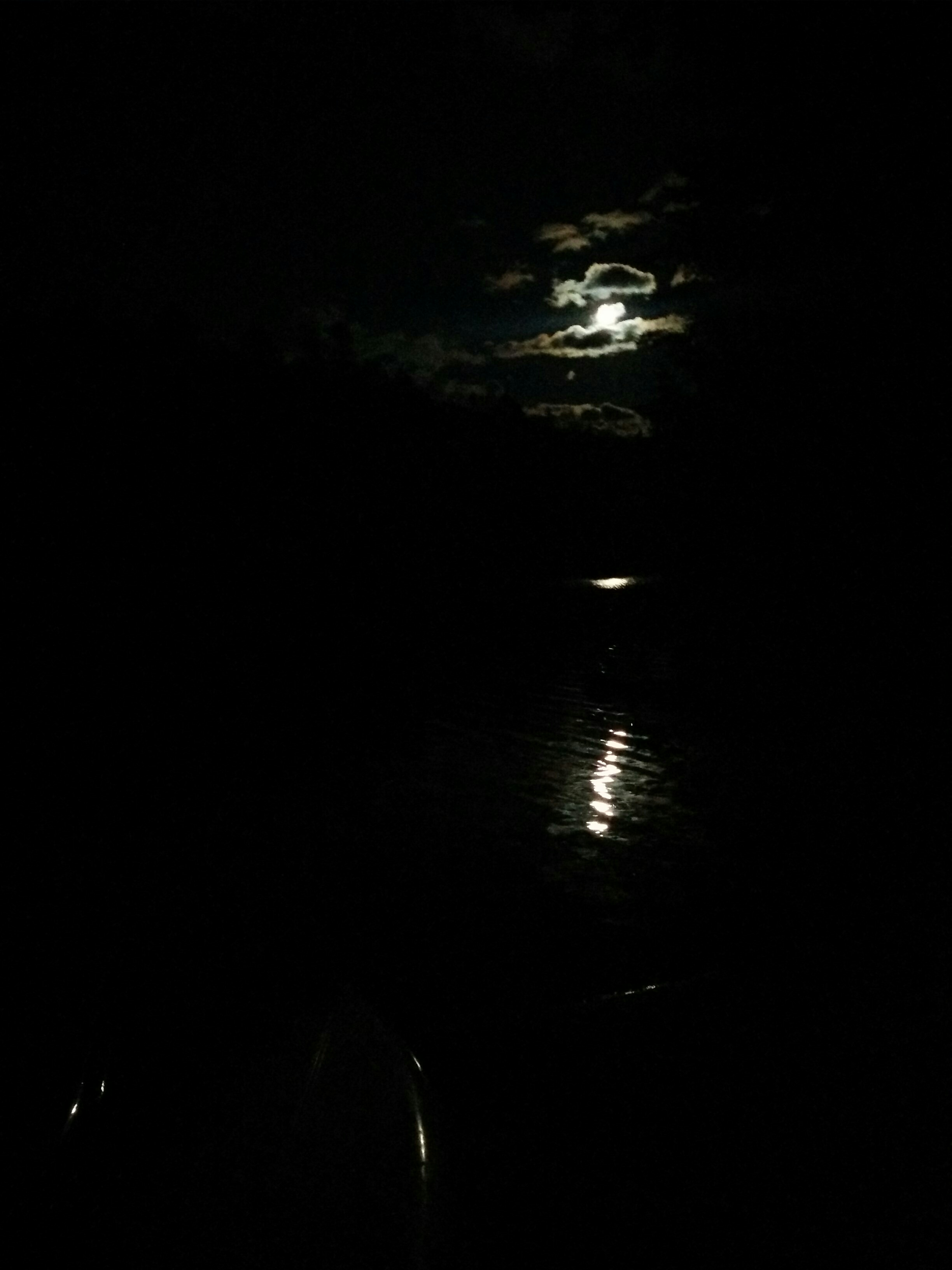 By the light of the moon... or headlamp