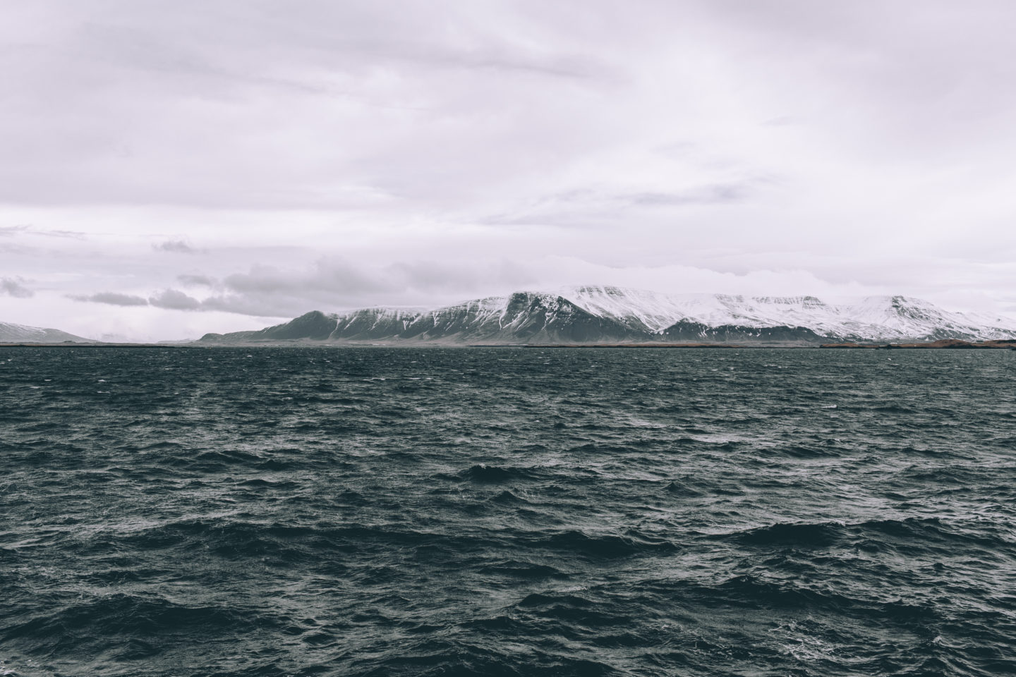 Iceland from the ocean