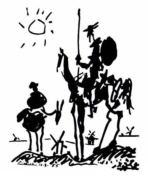 Pablo Picasso Don Quixote and Sancho Panza